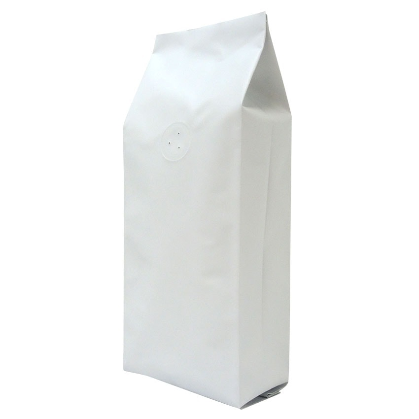 250g bag for coffee and tea matt white with valve