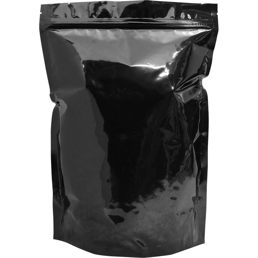 black stand up pouch